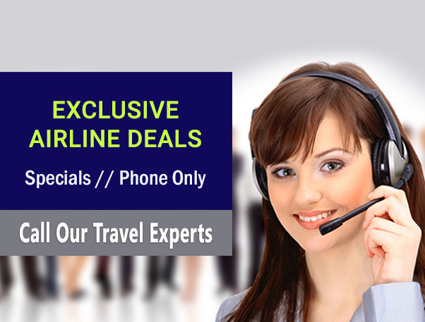 Exlusive Airline Deals - Special Offers / Phone Only